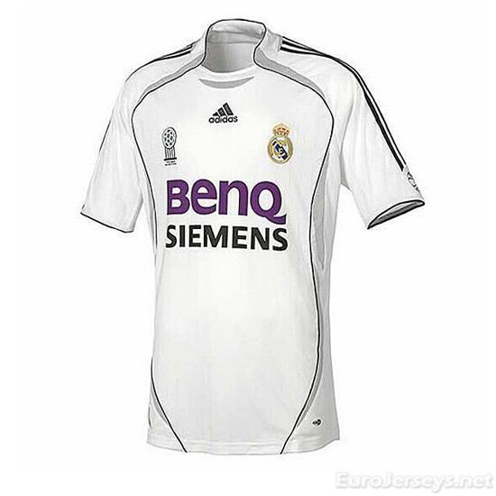 Real Madrid 06-07 Home Retro Cheap Soccer Jerseys